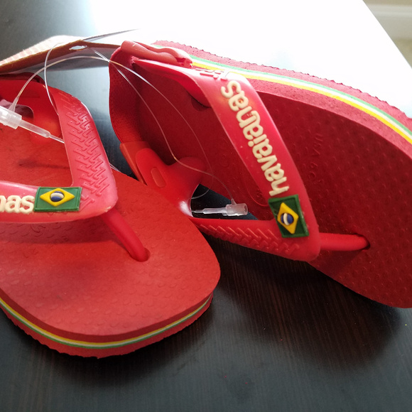 fe7f067754dc95 HAVAIANAS BRAZIL THONG SANDALS BABY SIZE 5